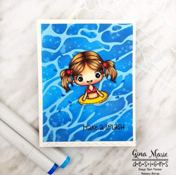 WATER RIPPLES 6X6 STENCIL - GINA MARIE DESIGNS