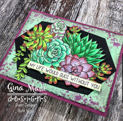 LABELS 5 NESTED DIE SET 9 LAYERS - GINA MARIE DESIGNS