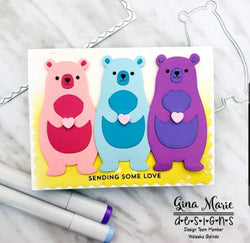 BEAR IN THE WOODS DIE SET - GINA MARIE DESIGNS