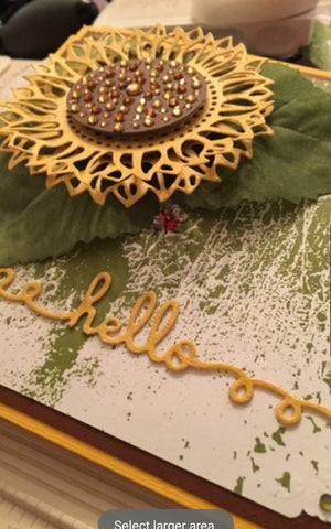(Back from retirement) SUNFLOWER DIE - GINA MARIE DESIGNS
