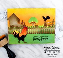 LAYERED ROOSTER DIE SET - GINA MARIE DESIGNS