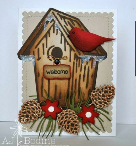 (back from retirement) BIRDHOUSE DIE - GINA MARIE DESIGNS