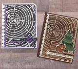 (Back from retirement) WOODGRAIN TREE RINGS 6X6 STENCIL - GINA MARIE DESIGNS