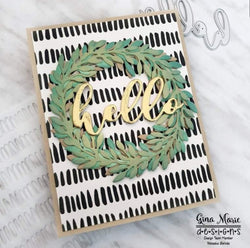 DISTRESSED LINES 6X6 STENCIL - GINA MARIE DESIGNS