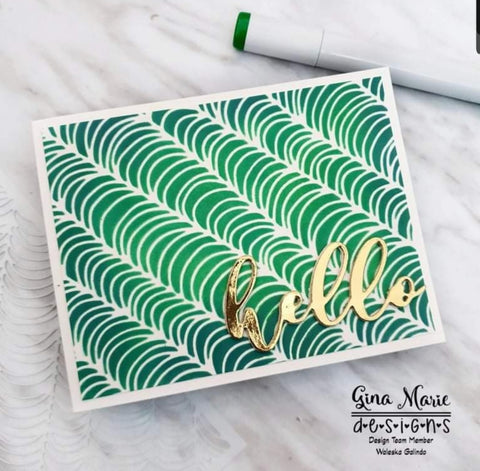 HOOPED ROWS 6X6 STENCIL - GINA MARIE DESIGNS