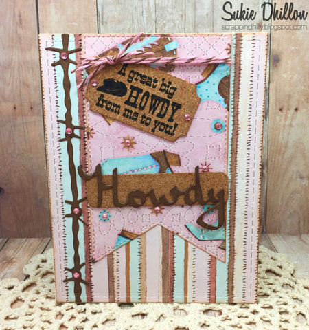 HOWDY & BARBED WIRE DIE SET - Gina Marie Designs