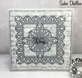 LOTUS BLOSSOM LACE SQUARE DIE SET - Gina Marie Designs