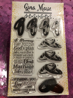 LAYERED WEDDING RINGS STAMP SET - Gina Marie Designs