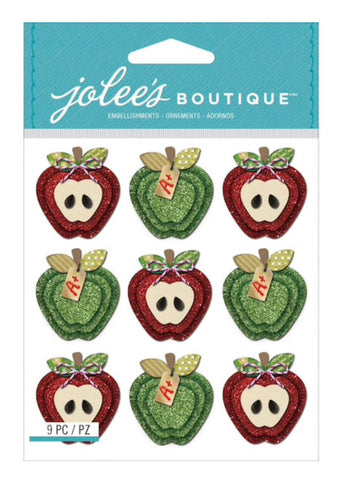 SPARKLE APPLES REPEATS - Jolee's Boutique Stickers