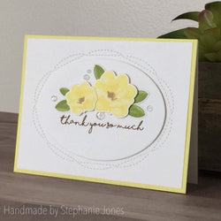 WONKY STITCHED OVAL DIE SET - Gina Marie Designs