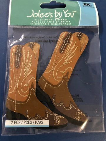 COWBOY BOOTS - Jolee's Boutique Stickers