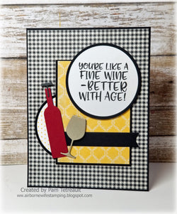WINO SENTIMENTS WINE STAMP SET - Gina Marie Designs