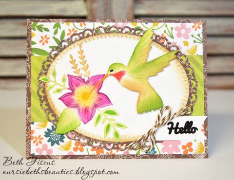 FLYING HUMMINGBIRD DIE  - Gina Marie Designs