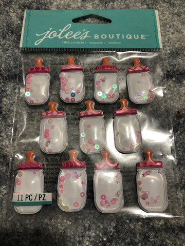 BABY GIRL BOTTLE DOME REPEATS - Jolee's Boutique Stickers
