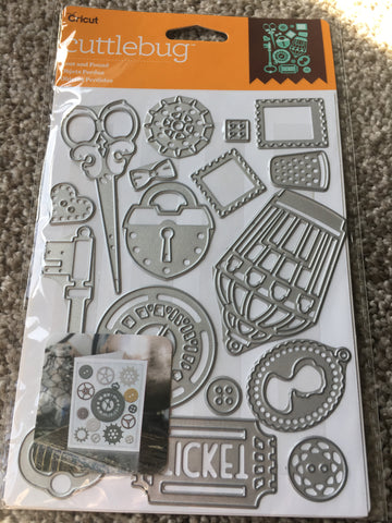 LOST AND FOUND DIE SET - CRICUT CUTTLEBUG