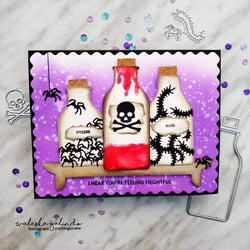 POISON BOTTLE & CREEPY CRAWLY BUGS DIE SET - Gina Marie Designs