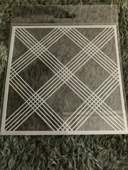 LATTICE LINES 6x6 STENCIL - Gina Marie Designs