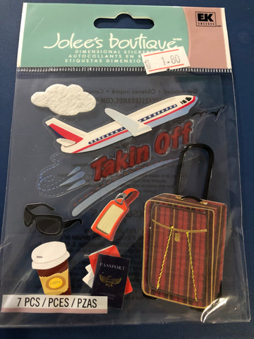 TAKING OFF PLANE - Jolee's Boutique Stickers