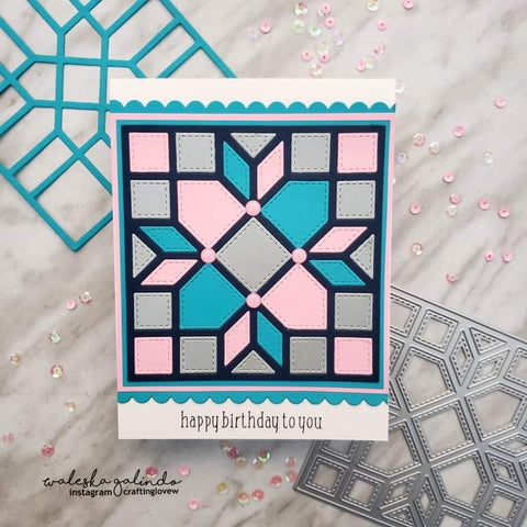 QUILT DIE #11 ARROWS AND SQUARES DIE - Gina Marie Designs