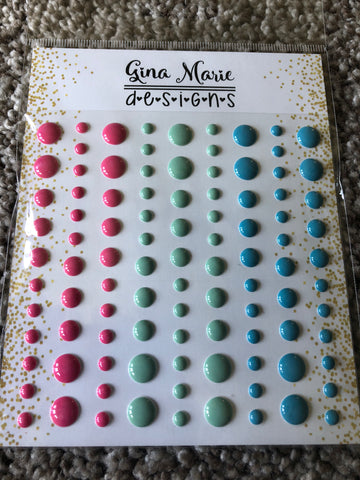 JOLLY HOLIDAY GLOSS STYLE Enamel Dot Embellishments