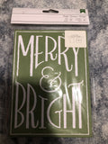 MERRY & BRIGHT 8 CARDS 8 ENVELOPES - American crafts