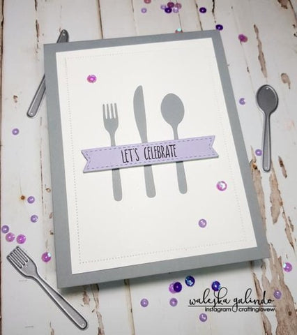 SILVERWARE DIE SET - Gina Marie Designs