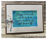 Single Sentiments Stamp - HAPPY ARE THOSE - Gina Marie Designs