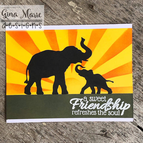 TRUNKS UP ELEPHANTS DIE SET - Gina Marie Designs