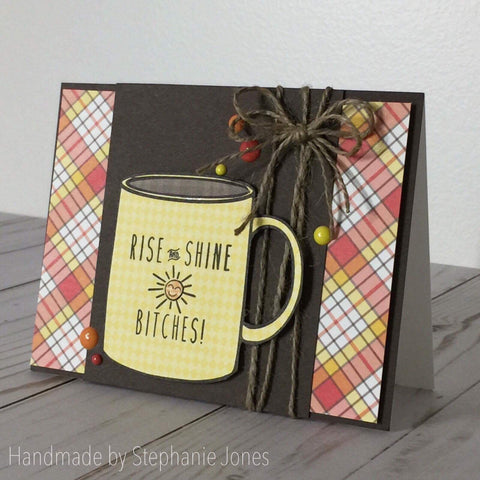 SNARKY COFFEE WORDS (these work with coffee cup set) - Gina Marie Designs