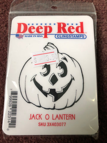 JACK O LANTERN - DEEP RED RUBBER STAMPS