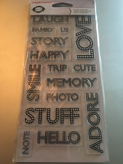 WORDS STUD DOTS - FISKARS CLEAR STAMPS