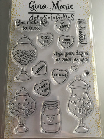 VALENTINE CANDY STAMP SET - Gina Marie Designs