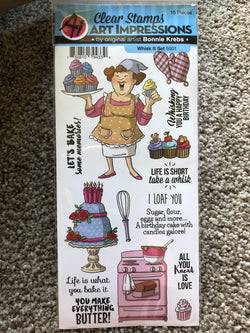 WHISK IT - ART IMPRESSIONS CLEAR STAMPS BY BONNIE KREBS