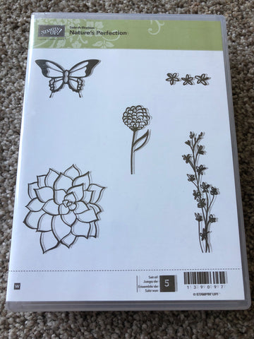 NATURE'S PERFECTION - STAMPIN UP SALE-A-BRATION WOOD MOUNT STAMPS