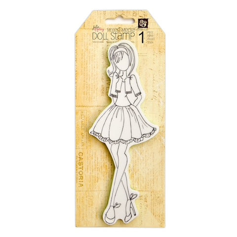 DOLL WITH BOLERO - JULIE NUTTING DOLL PRIMA GIRL STAMPS