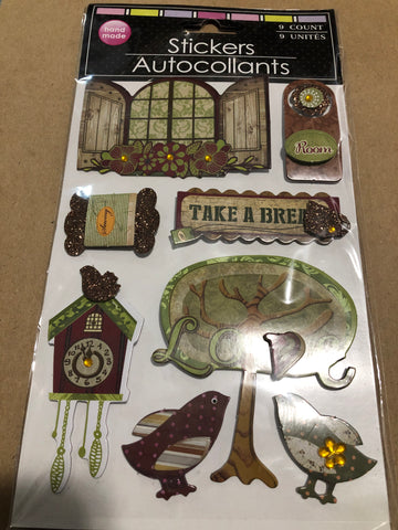 COTTAGE HOME 3D STICKERS
