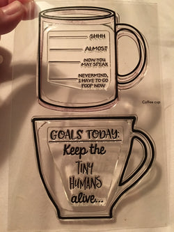 FUNNY COFFEE CUPS STAMP SET - Gina Marie Designs