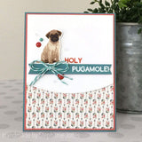 PUG DOG LAYERED STAMP AND SENTIMENT SET - Gina Marie Designs