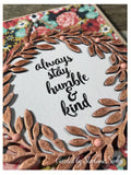 Single Sentiment Stamp - HUMBLE AND KIND - Gina Marie Designs