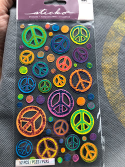 SKETCHY PEACE SIGNS - STICKO STICKERS