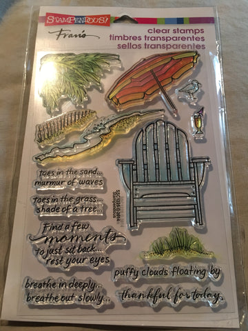 SEASIDE CHAIR - STAMPENDOUS CLEAR STAMPS