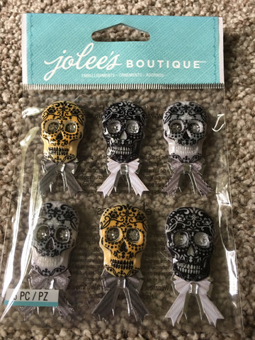 BLACK AND WHITE SKULL REPEATS - JOLEES BOUTIQUE STICKERS