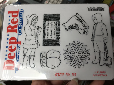 WINTER FUN STAMP SET - DEEP RED XL STAMP SET
