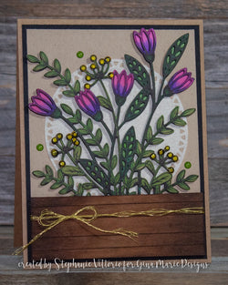 DAINTY FLOWER WINDOW DIE - Gina Marie Designs