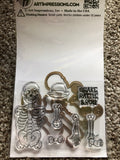 SKELETON WIGGLE WOBBLE - CLEAR STAMPS AND DIES ART IMPRESSIONS BONNIE KREBS
