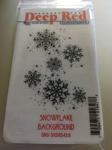 SNOWFLAKE BACKGROUND - DEEP RED RUBBER STAMPS