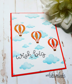 HOT AIR BALLOON 6x6 STENCIL - Gina Marie Designs