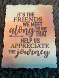 FRIENDS ALONG THE WAY SENTIMENT STAMP - Gina Marie Designs