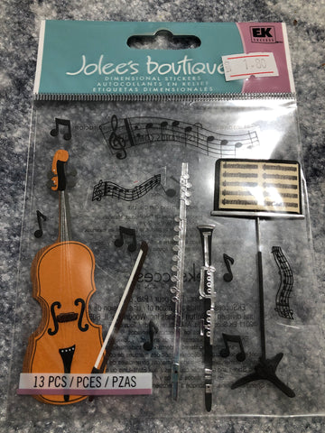 MUSICAL INSTRUMENTS - Jolee's Boutique Stickers