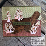 WEATHERED LOG & MUSHROOM DIE SET - Gina Marie Designs